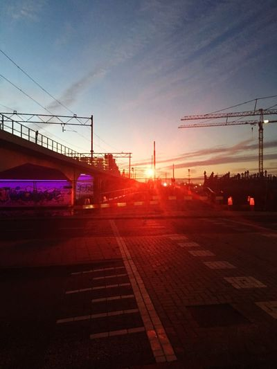 Graffiti IPhoneography Sky Transportation Red Lamp No Sunset Built Structure No People Outdoors Architecture Connection I Share My Vista With You City Street The Netherlands Schiedam Finding New Frontiers The City Light The Street Photographer - 2017 EyeEm Awards