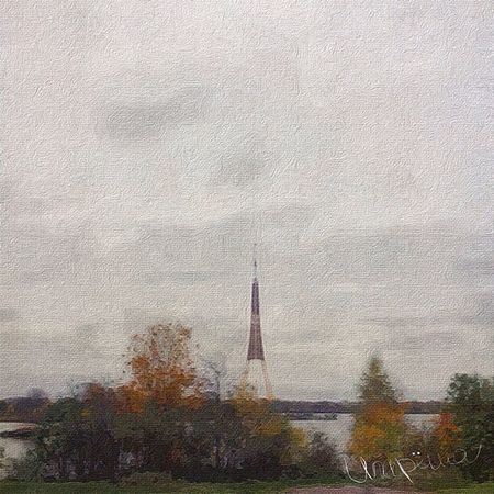 Riga Torn Teletorn игареша латвия рига осень Latvija Latvia Road