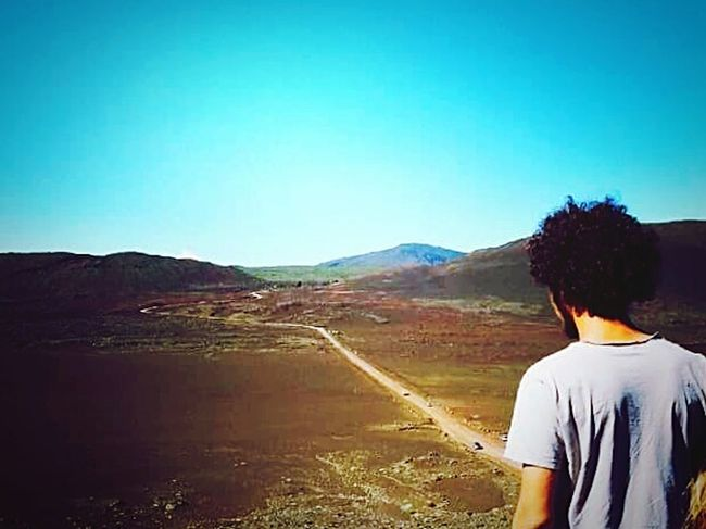 The Traveler - 2015 EyeEm Awards Vulcano Reunion Island Piton De La Fournaise Volcano