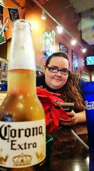 Christmas Eve Pizza Christmas Eve Pizza Time Beer Time My Daughter Not Her Beer Its A Corona Ice Cold On Her Phone Poinsettia Pepsi Cup Array Of Colors Cheers 🍻