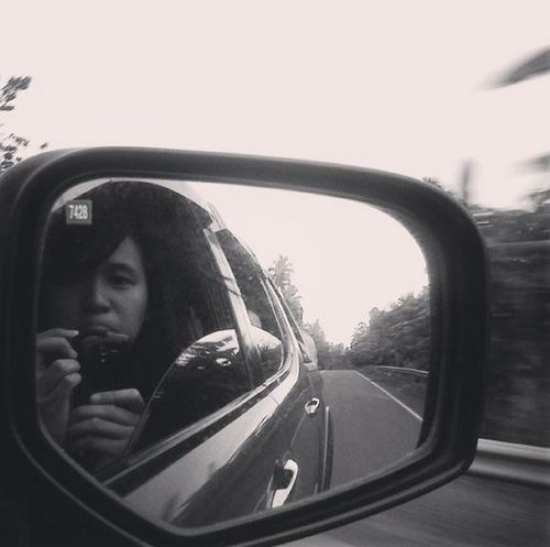 Mirror Shot On The Road
