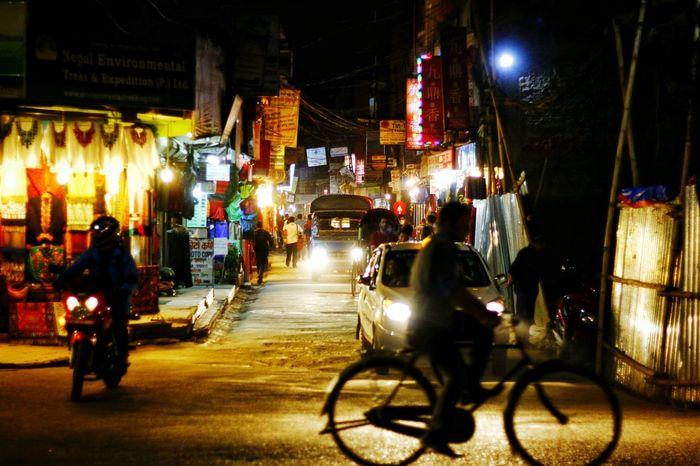 Streetphotography Thamel Street Nepal
