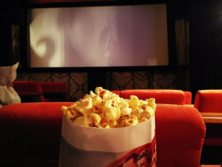 Perfect evening MOVIE Popcorn Movie Theater Film Industry Arts Culture And Entertainment Chair Food And Drink Snack Red Entertainment Center Popcorns Popcorn & A Movie  Cinema Photo Cinema Cinematic Photography Small Cinema Movie Time Movie Theatre  EyeEm Best Shots Exceptional Photographs EyeEm Gallery Mix Yourself A Good Time