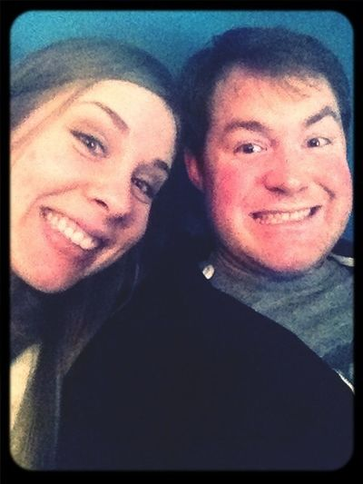 My fella and I being cheese balls. :)