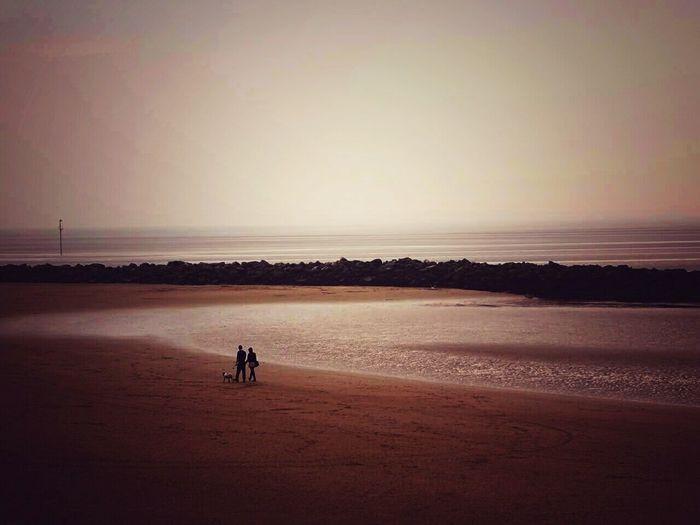 Beech, coast, water, people Taking Photos