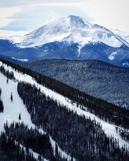 Mt. Guyot Beauty In Nature Snowcapped Mountain Rocky Mountains Exploresummit Colorado Outdoors KeystoneSkiResort