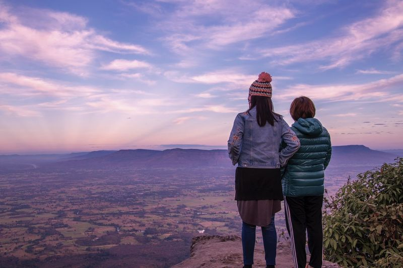 View point, Mor Hin Khao, Chaiyaphum, Thailand EyeEm Thailand Travel Thailand Mountain Rear View Women Sky Two People Cloud - Sky Sunset It's About The Journey Adult Nature