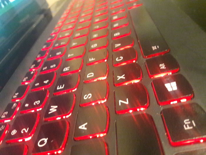 Red Close-up Red And Black Glowing Keyboard Glowing Red Light Glowing Glow Not Modified Keyboard Backgrounds Technology