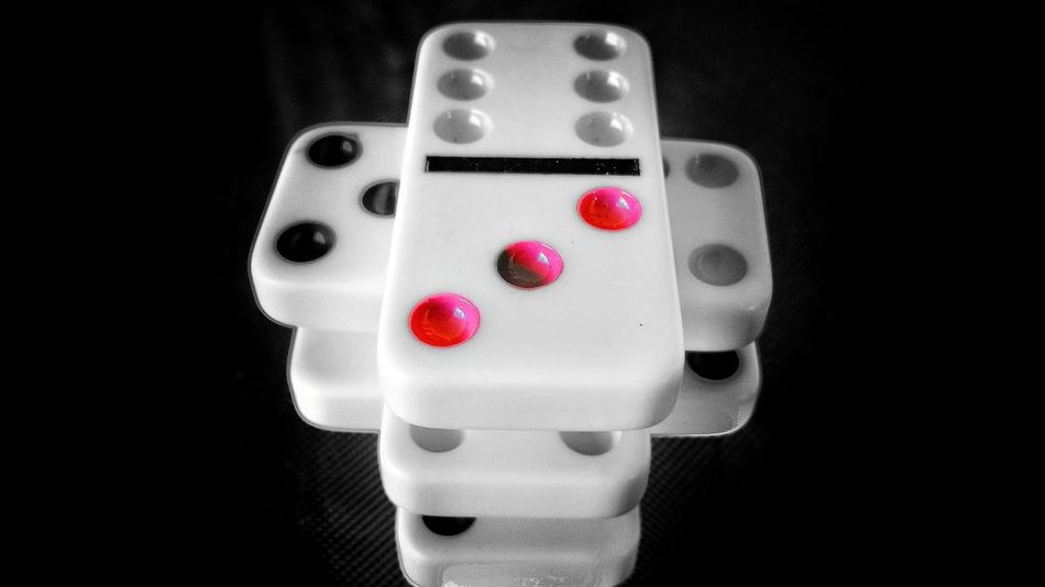 Red High Angle View No People Close-up Indoors  Dominoes Objects Square Still Life Splash Of Colors Drastic Edit Monochrome 3XSPhotographyUnity Minimalism