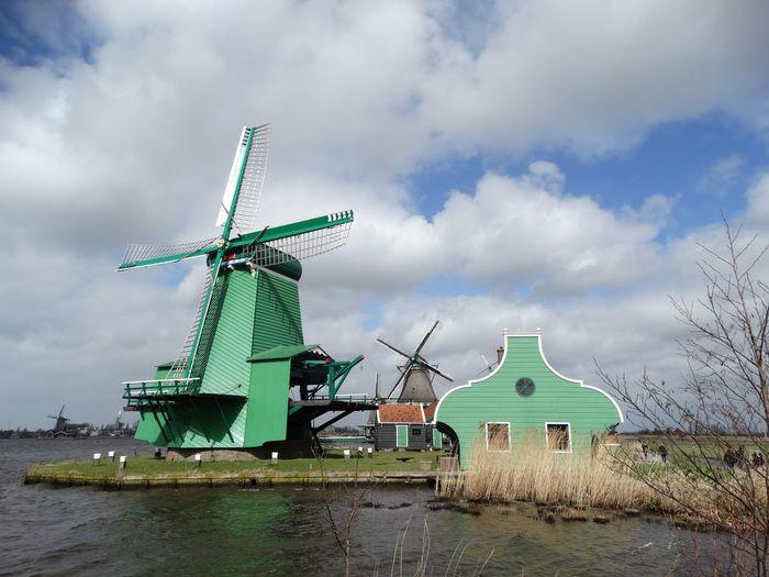 Zaanse Schans Netherlands Green Green Houses