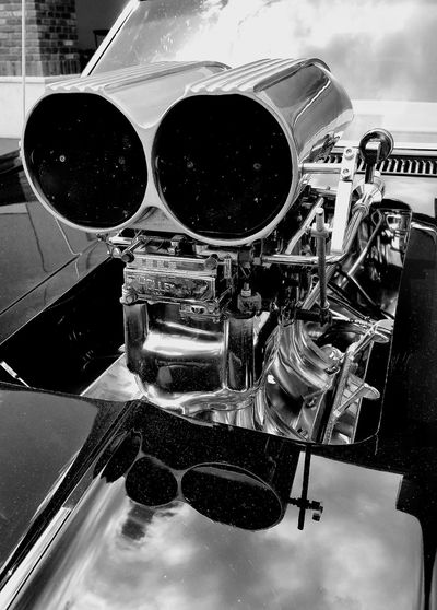 Black And White Photography B&w Blackandwhite Car Engine Vintage Vintage Cars Close-up No People Indoors  Day