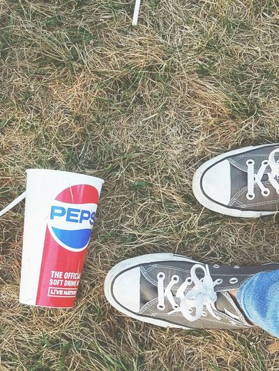 Marilyn Manson and Rob Zombie concert in Indiana💜 Converse Pepsi #Concert Hippie Boho Vintage #photography Me Peace Sunshine Communication High Angle View Text Close-up