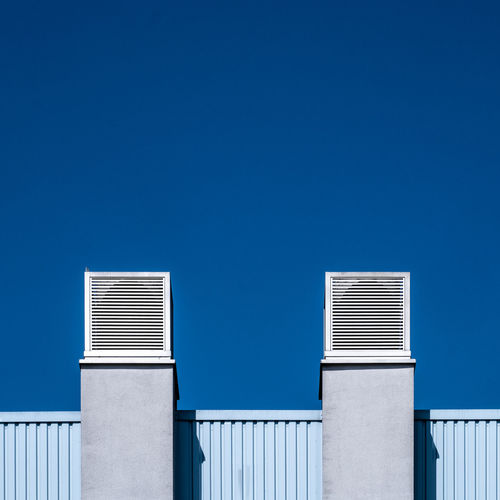 Architecture No People Day Blue Sky Clear Sky Building Exterior Built Structure Copy Space Building Sunlight Industry Factory Corrugated Outdoors
