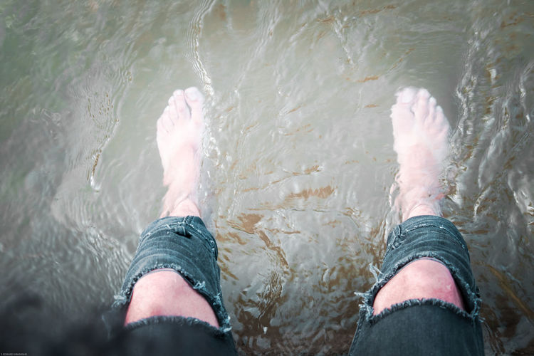 Drowned feet.. Canal Barefoot Sitting Low Section Human Leg Personal Perspective One Person Human Body Part Water Only Men Adult Rippled Adventure Mature Adult Outdoors People Men Day EyeEm Ready   AI Now