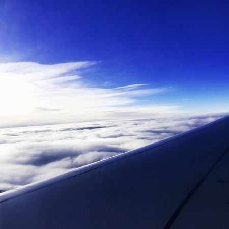 Plane Planewings Somewhere In The Sky No Borders Happy In The Sky Flying Flying High