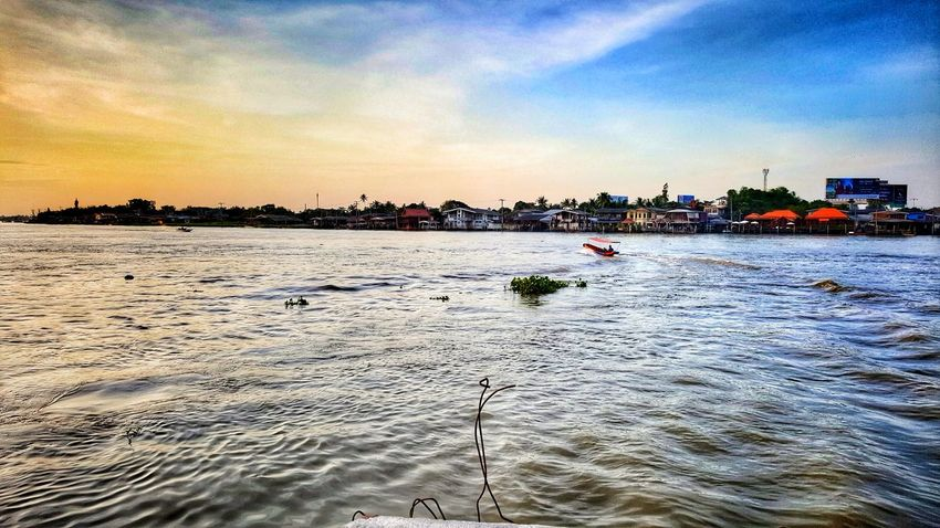 Sunset Sky Water Nature Outdoors Beauty In Nature Sea No People Urban Skyline Architecture Day Travel In Thailand Thailand Photos EyeEm Gallery Ko Kret Kohkret Travel Photo Thailand