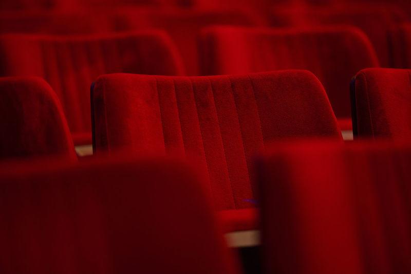 Empty seats in room