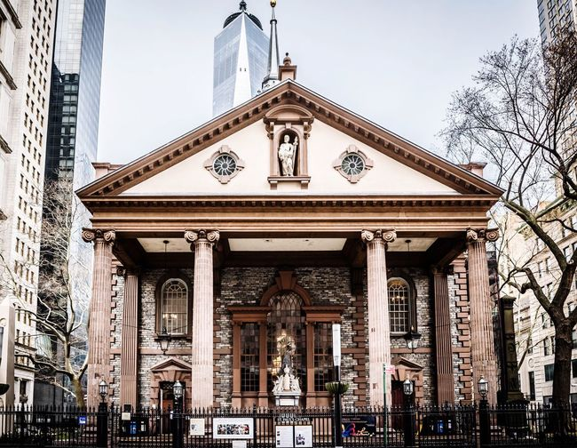 Adapted to the City Advertising Photographer Photooftheday Photography NYC Building Architecture Arch Church Architecture Building Exterior Built Structure Façade Outdoors Sky Day City Low Angle View Travel Destinations