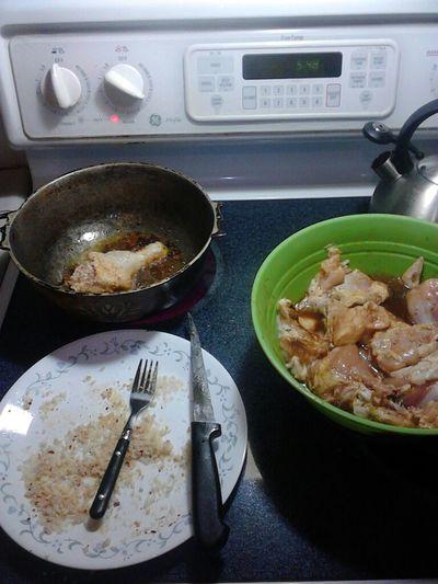 Making Fried Chicken