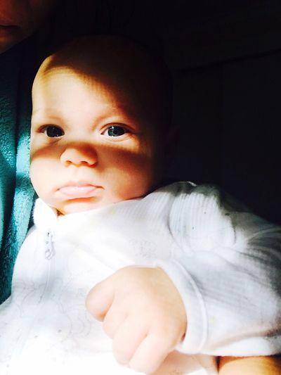 Innocence Babyhood BabyBlueEyes Baby Baby Girl Shadows & Lights Close Up
