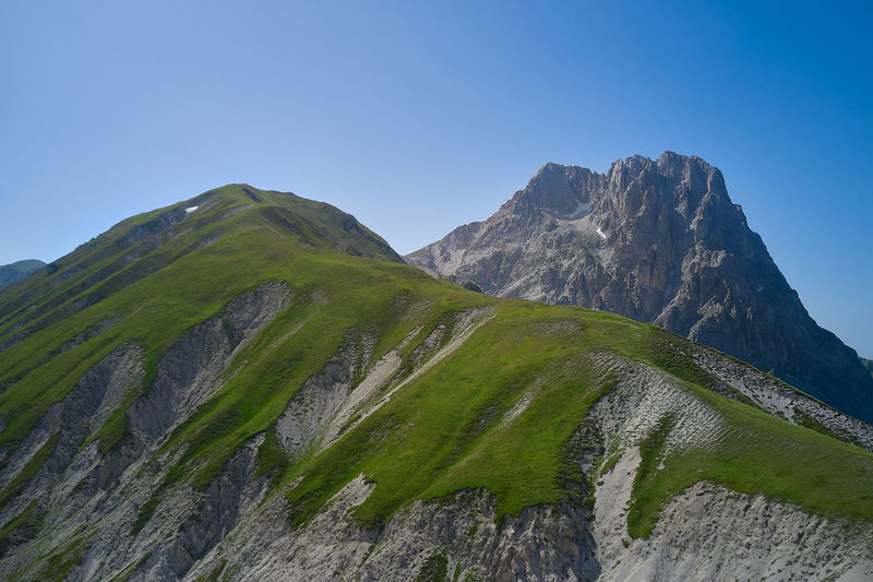 Aerial view of the big horn from the field of emperor abruzzo