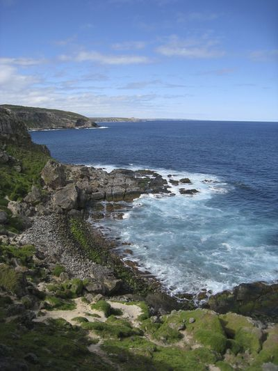 Australia Beauty In Nature Coastline Flinders Chase NP Idyllic Kangaroo Island Nature No People Non Urban Scene Non-urban Scene Ocean Outdoors Rock Formation Scenics Sea Tranquil Scene