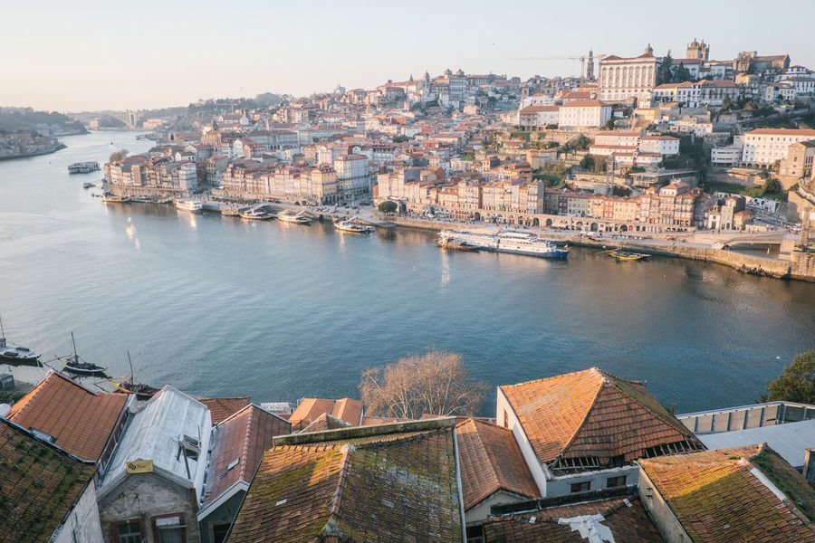 Porto 2017 Douro  Porto Portugal Architecture Building Exterior Built Structure Chain Bridge City Cityscape Community Day High Angle View Nature No People Outdoors Residential Building Residential District River Sky Travel Destinations Tree Water