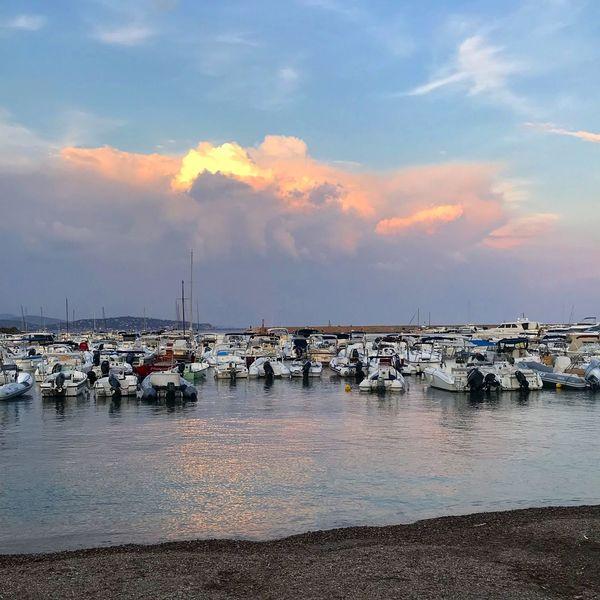 Parking lot Water Cloud - Sky Sky Nautical Vessel Transportation Sea Mode Of Transportation Harbor Sailboat Scenics - Nature Sunset Outdoors Beach