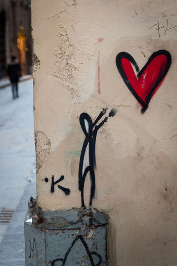 Heart art on the streets of Florence - Enter/Exit Close-up Cold Temperature Day Firenze Florence Florence Italy Heart Shape Italia Italy Italy❤️ Love No People Outdoors Street Art Street Art/Graffiti Streetart Streetart/graffiti Wall Winter