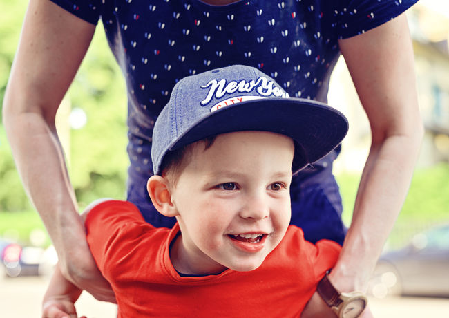 Little Boy has fun Fun Boys Casual Clothing Child Childhood Childhood Memories Cute Emotion Focus On Foreground Front View Happiness Innocence Leisure Activity Lifestyles Looking At Camera Males  Outdoors People Playing Portrait Positive Emotion Real People Smiling Son Toddler