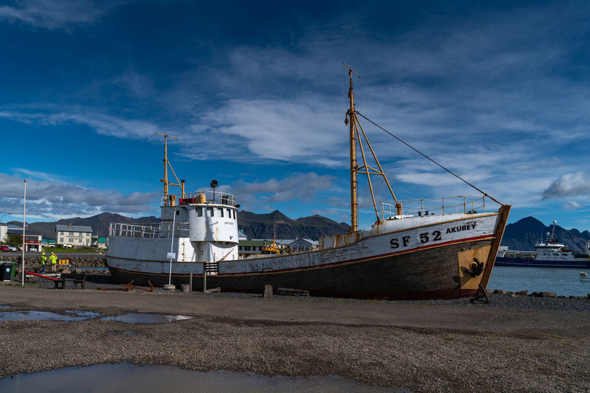 Iceland Architecture Beach Beautifuliceland Built Structure Cloud - Sky Day Fishing Industry Harbor Industry Land Mode Of Transportation Moored Nature Nautical Vessel No People Outdoors Sailboat Sea Ship Sky Transportation Water