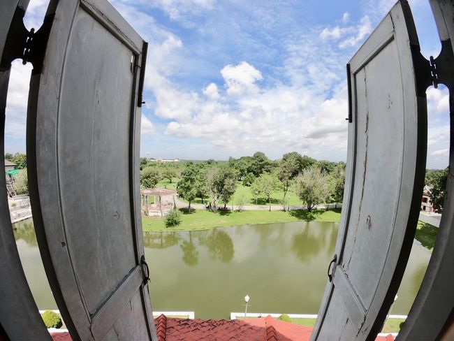 To new beginnings Goprooftheday GoProhero6 Goprolife Bangpainsummerpalace Thailand Sky Plant Water Cloud - Sky Nature Day Tree No People Outdoors Lake Reflection Metal Window Built Structure Sunlight Security Green Color
