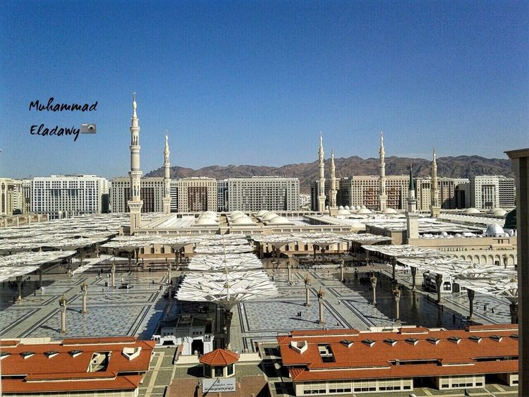 Architecture Built Structure Building Exterior Day Clear Sky No People Outdoors Blue City Cityscape Sky Madinah Al-munawwarah ProphetMuhammad Masjidil Nabawi Madinah