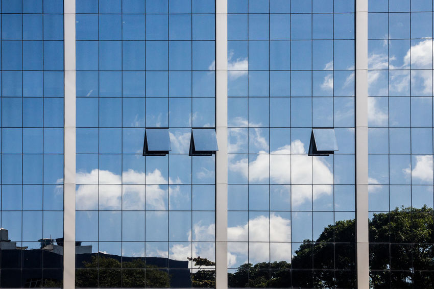 Lines Architecture Blue Building Exterior Built Structure Cloud - Sky Day Julhofragaphotography Modern Nature No People Outdoors Sky Straight Lines Tree Window