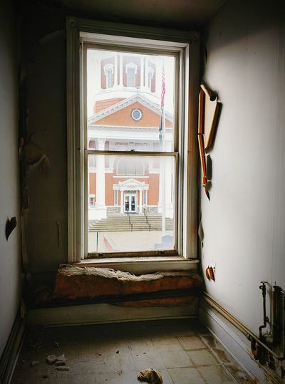 Abandoned Buildings Abondoned Places Fresh Look Window Views  Paint Peel Antique Architecture Time Forgotten Dingy Hello World Courthouse Hope