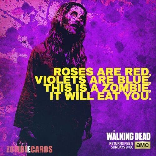 My kinda valentine. ;) Thewalkingdead Zombiecards Valentines AMC