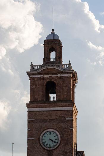 Architecture Building Exterior Church Clock Tower Ferrara Ferrara- Italy FerraraCity History Italy Religion Sky Tower