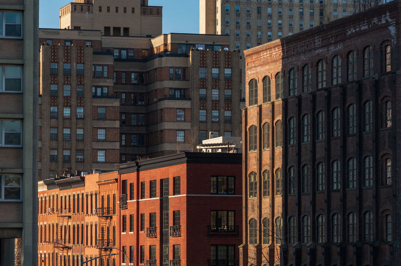 Brooklyn apartment blocks Architecture Building Exterior Built Structure Building Window City No People Outdoors Day Residential District In A Row Glass - Material Sunlight Apartment Low Angle View New York Brooklyn Buildings Urban Urban City