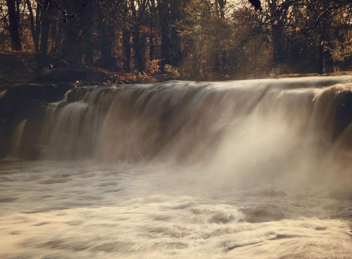 Cart Glasgow  Linn Park Rivercart Salmonriver Scotland Waterfall