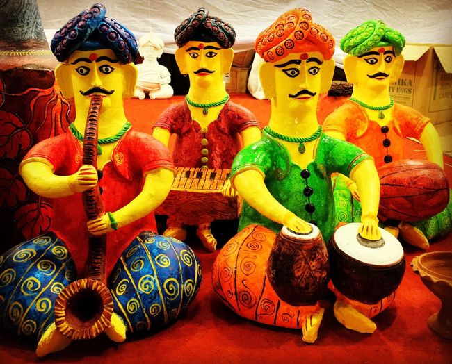 The Band Earthen Puppets Human Representation Band Craft India Incredible India