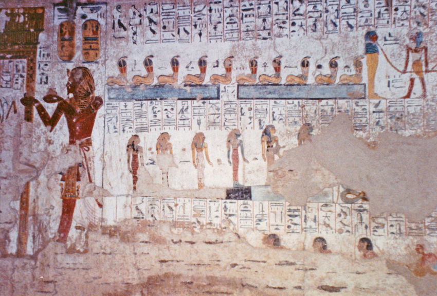 Wall painting inside the Tomb of Merneptah - Valley of the Kings, Thebes, Luxor, Egypt Architecture Day History Outdoors Ancient Valley Of The Kings Sarcophagus No People Ancient Civilization Old Ruin Wall Paintings Luxor, Egypt Tomb Paintings, Thebes Tomb Of Merneptah
