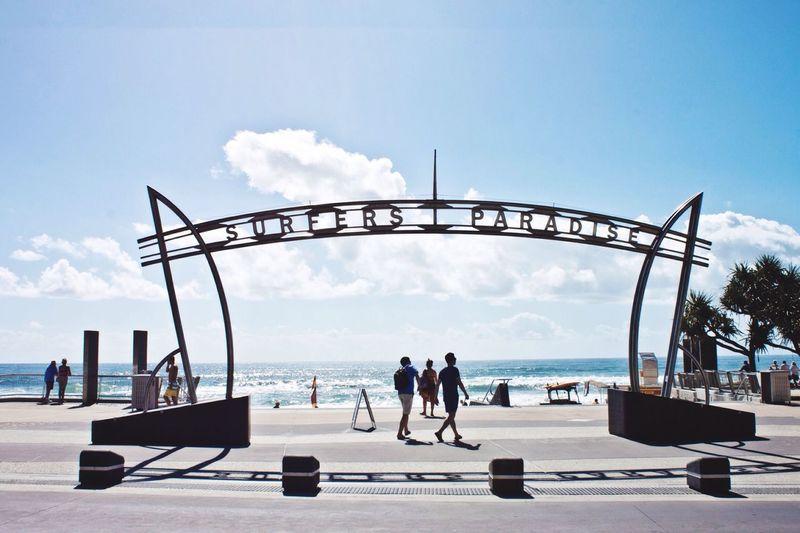 Surfers Paradise Surfersparadise Surfers Australia Beach Vacation Sihlouette Summertime Surf Beach Access Surf's Up