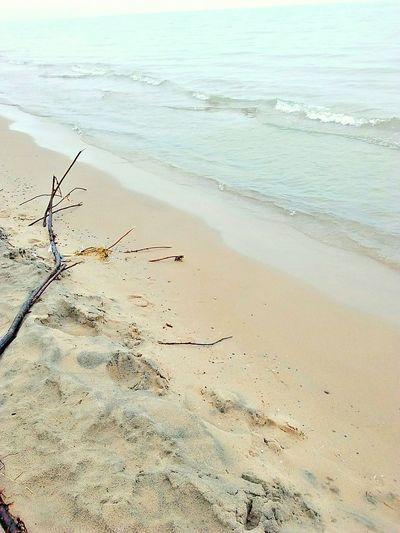 Recharge Michiganlake Water Beach Wave Sand Low Tide Sunlight Horizon Over Water Calm