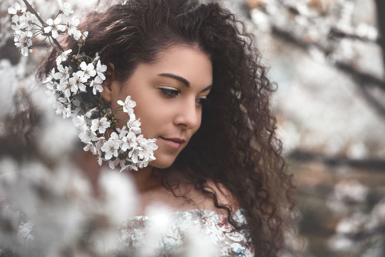 Film Fine Art Photography Attractive Beautiful Woman Beauty Blossom Caucasian Close-up Cute Flower Hairstyle Headshot Human Face Nature Nice Outdoors People Portrait Pretty Sexygirl Spring Springtime Vintage Women Young Adult EyeEmNewHere The Portraitist - 2018 EyeEm Awards International Women's Day 2019