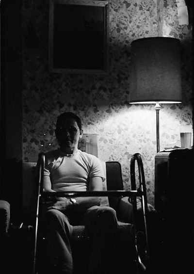 Black And White Black And White Photography Film Film Photography Health Illness Light And Dark Light And Shadows Obscured Person Sitting TriX400