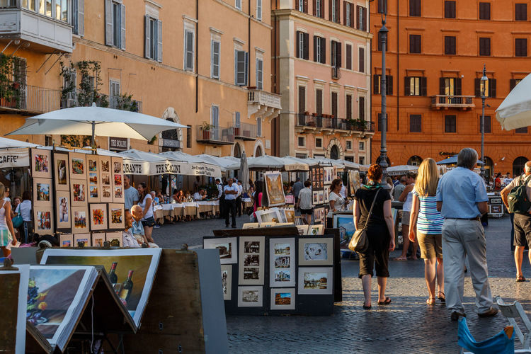 Moving Around Rome Piazza Navona Architecture Art Building Exterior City Day Holiday Men Outdoors People