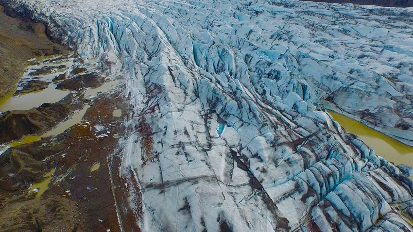 Drone  Iceland Blue Ice Blue Ice Glacier Close-up Day Dronephotography Full Frame Glacier High Angle View Iceland_collection Nature No People Outdoors Pattern Textured
