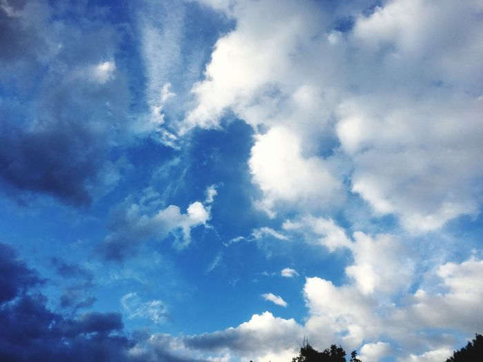 Cloud - Sky Sky Beauty In Nature Low Angle View Tranquility Tranquil Scene Nature Scenics - Nature No People Blue Outdoors Idyllic Meteorology Full Frame