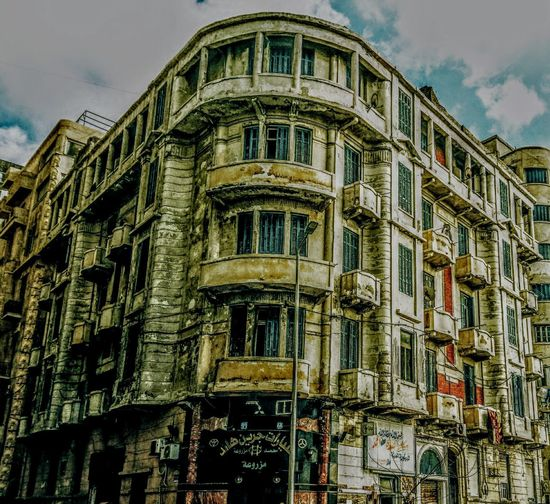 Architecture Building Exterior Window Low Angle View Built Structure No People Sky Outdoors History City Day Sketchy Classic Architecture Old Alexandria Residential Building Old Architecture Sketchyshots Architecture EyeEmNewHere Eyeemphotography Alexandria Egypt The Architect - 2017 EyeEm Awards