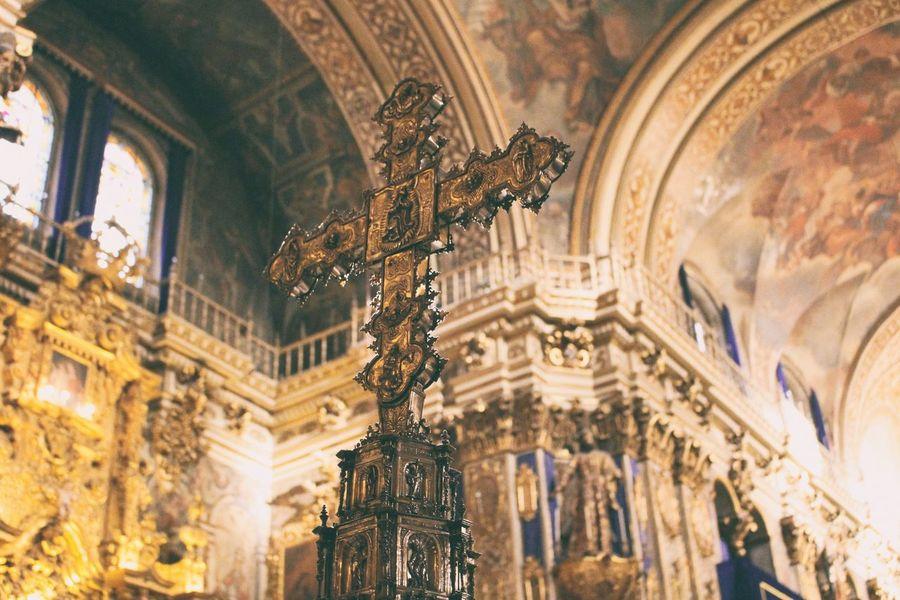 Cross Cross Religion Cathedral Golden Cross